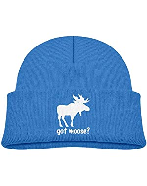 Funny Got Moose Printed Baby Boy Girls Winter Hat Beanie