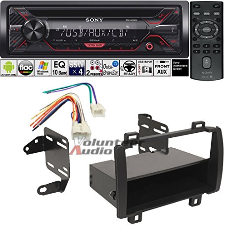 Volunteer Audio Sony CDX-G1200U Double Din Radio Install Kit with CD Player, USB/AUX Fits 2009-2010 Toyota Matrix - (Does Not Work With Factory Navigation Vehicles)