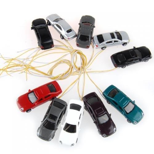 R 10 piezas pintadas quema modelo luz del coche w cables escala // N 1 a 150 SODIAL EC150-3