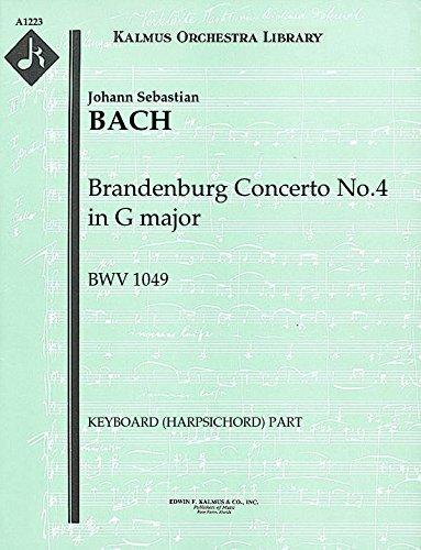 Brandenburg Concerto No.4 in G major, BWV 1049: Keyboard (Harpsichord) part (Qty 2) [A1223]