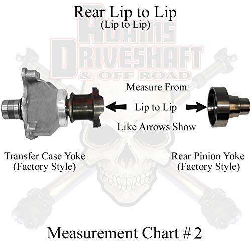 2007-2018 Jeep Wranger JK//JKU 1310 CV Driveshaft 42.5, 4 Door JKU - Greaseable U-Joints Custom Built to Your Measurement UPGRADED REAR Replacement