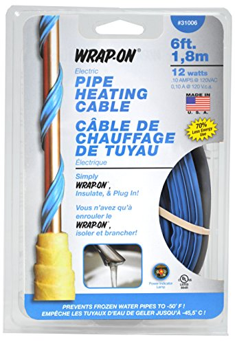 [해외]Wrap-On 31006 6 '파이프 가열 케이블 12 Watts/Wrap-On 31006 6` Pipe Heating Cable 12 Watts