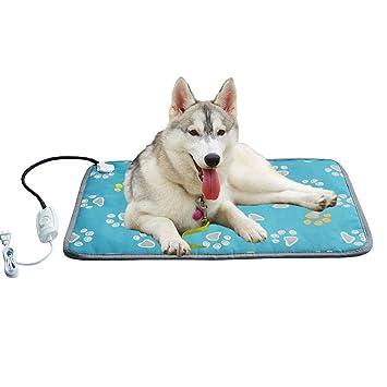 Dedeka Pet Manta eléctrica para calefacción Almohadilla térmica Estera Impermeable Anti-mordida Almohadilla eléctrica para