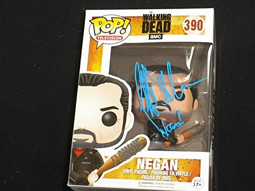 JEFFREY DEAN MORGAN Signed NEGAN FUNKO POP Figure Autograph The Walking Dead BECKETT BAS COA A