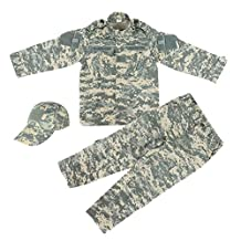 Military-Tokyo Youth Size Tactical Army Combat Camo Uniform Cap Shirt & Pants Set (FBA)