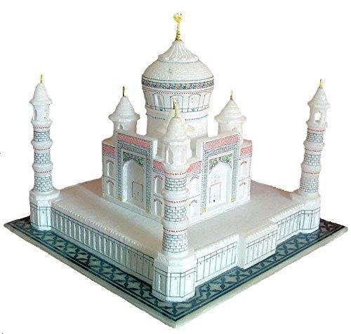 Taj Mahal Tajmahal Marble Replica Model India Agra Souvenir Collection (9 Inch x 9 Inch)