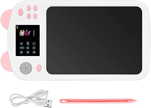 LCDライティングボード、音声放送機能目にダメージを与えない子どもたちがタブレットを描く、子供が絵を描くための疲労学習(Pink)