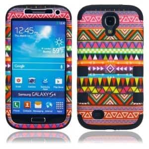Red Tribe Pattern Case for Samsung S4 i9500 Black
