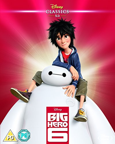 Big Hero 6 (2014) (Limited Edition Artwork Sleeve) [Blu-ray] [Region Free] (Six Dvd Hero Ray Blu Big)