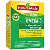 Nature Made Omega-3 with Xtra Absorb Technology Softgels w. 500 mg EPA & DHA 30 Ct, Packaging may vary