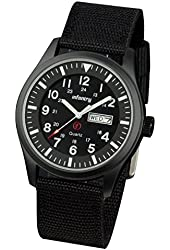 Infantry Night Vision Aviator Police Mens Date Day Clock Watch Army Military Sport Black Dial Nylon Strap