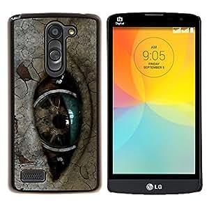 "Be-Star Único Patrón Plástico Duro Fundas Cover Cubre Hard Case Cover Para LG L Prime / L Prime Dual Chip D337 ( Ojo Robot"" )"