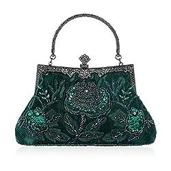 Vintage Style Beaded Floral Handbag
