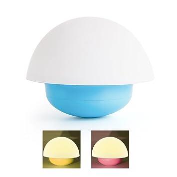 Veesee soft baby night lightsilicone cute mushroom nursery night lamp dimmable mood lamp