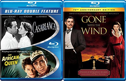 Academy Award Winners Gone with the Wind + The African Queen & Casablanca Classic Screen Series Triple Feature