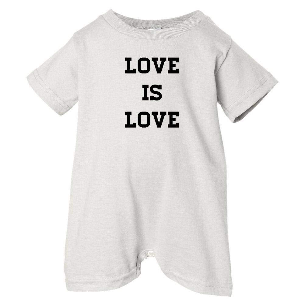 Pride Universe Unisex Baby Love Is Love T-Shirt Romper Black Print