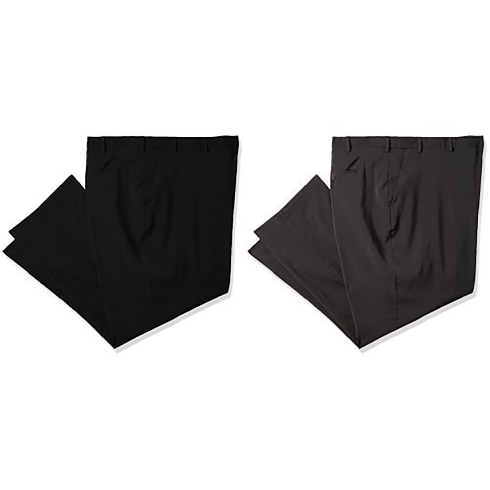 Van Heusen Men's Big and Tall Traveler Stretch Flat Front Dress Pant 50B9198