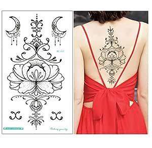 Diseños Pecho Flash Tatuaje Flor Grande Pendientes Collar Hombro ...