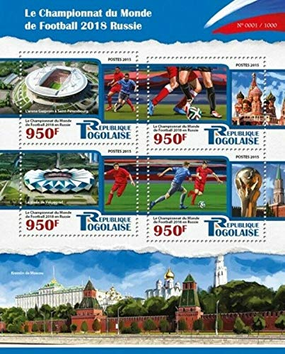 Togo - 2015 World Cup Championship Soccer - 4 Stamp Sheet - TG15508a