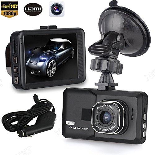 South Weekend 3' LCD HD 1080P Car Vehicle Video Dash Cam Recorder Camera DVR HDMI G-Sensor,170 Degree Ultra Wide Angle Lens,Driving DVR,Display Screen,Loop-Cycle Recording,Black (Mirror Power Black Paddle Design)