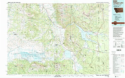 YellowMaps Hebgen Lake MT topo map, 1:100000 Scale, 30 X 60 Minute, Historical, 1993, Updated 1993, 24.1 x 38.6 in - Paper