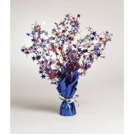 Creative Converting Mens Patriotic Stars Foil Spray Centerpiece Blue Medium ()