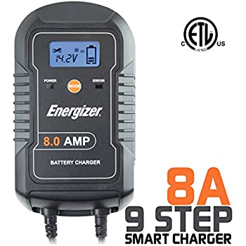 Amazon Com Energizer Enc8a 8 Amp Battery Charger With Lcd