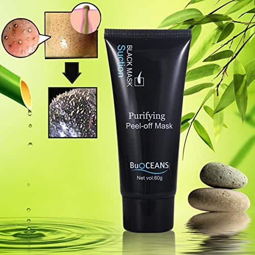 Peel-off Mask, Blackhead Facial Mask Deep Clean Mask Blackhead Remover Black Mask, Premium Quality Mask Purifying Deep Cleansing Acne Resist Oily Skin Strawberry Nose Tearing style Cleansing Mask