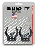 : Maglite Black Universal Mounting Brackets for D-Cell Flashlight, 2 pk