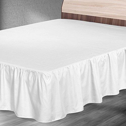 elegant full size bed ruffle skirt hotel bedding microfiber 16 inch drop white ebay. Black Bedroom Furniture Sets. Home Design Ideas