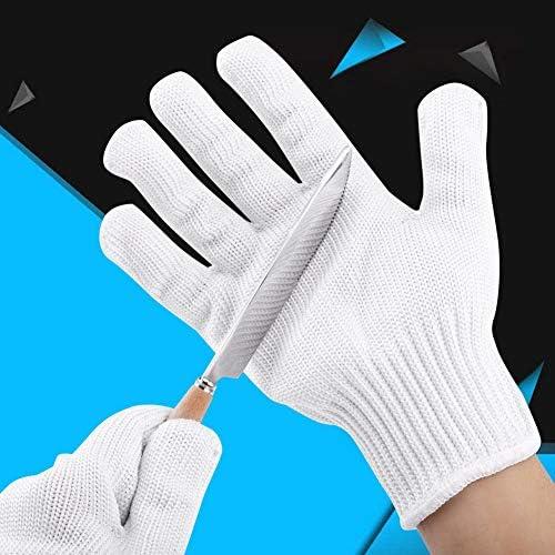 カット耐性の手袋、ガーデニング/肉屋作業のためのアンチカット、フィレット5レベルの安全手袋カット耐性の屋外保護ツール