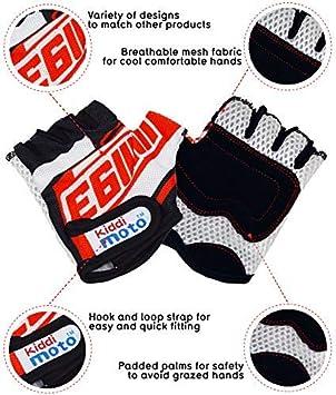 Kiddimoto Kids Cycling Fingerless Gloves Scooter for Kids Bike Gloves for Girls and Boys Balance Bike and Skateboard