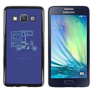 LECELL--Funda protectora / Cubierta / Piel For Samsung Galaxy A3 SM-A300 -- Double Decker Bicycle Purple --