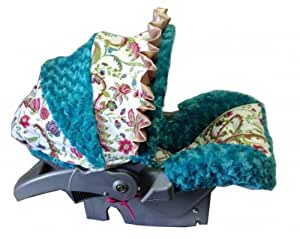 baby car seat infant cover paisley teal baby. Black Bedroom Furniture Sets. Home Design Ideas