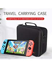 Festnight Travel Carrying Case Compatible with Nintendo Switch System EVA Hard Shell Handbag for Nintendo Switch Console Joy-Con Controller Accessories