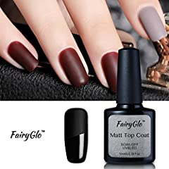 Nail Art Brand:FairyGlo Nails Product: Matt Top Coat Volume:10ml/0.33fl.oz Certificate:MSDS,SGS Suitable Lamp:UV/LED/CCFL Lamp.9w, 12w, 24w, 36w, 48w ect. Normal Nail Salon Usage:  STEP 1 : Gently buffer your nails surface so they're not shin...