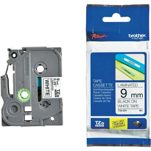 Bande inscriptible pour Brother P-Touch 900, noir sur blanc, 9 mm, é criture Cassette de ruban pour PTOUCH 900, 9 mm de large, 8 m. 9mm écriture Cassette de ruban pour PTOUCH 900 9mm de large 8m. Faxland