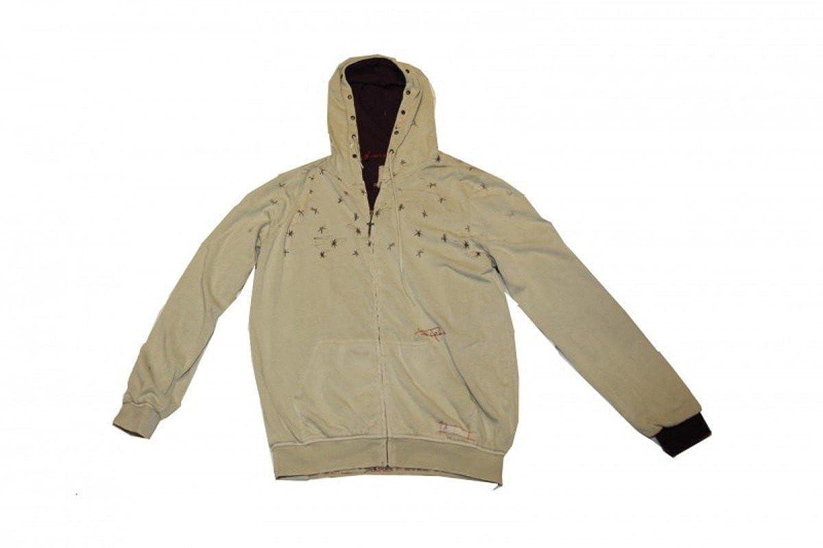 Altamont Skateboard Hoodie Zip Pullover Khaki Sweater
