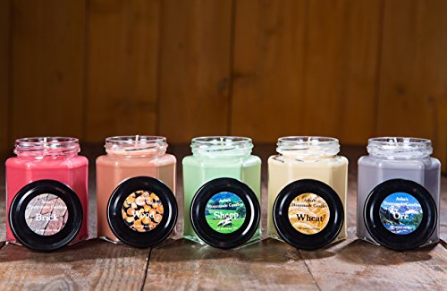 Settlers of Catan Soy Candles - Set of 5 - 9 oz Hex Jars - Board Game Geek Gift African Freesia