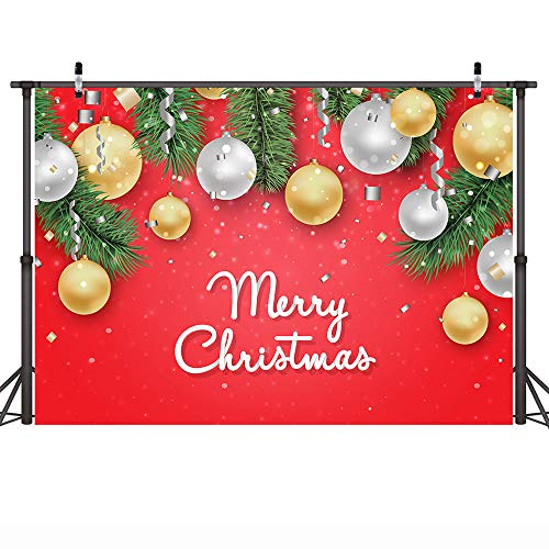 COMOPHOTO Merry Christmas Photo Background Medium Festival Party Decoration Photography Backdrop Video Studio 7x5ft Vinyl -