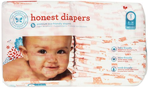 The Honest Company Disposable Diapers, Giraffe, Size 1, 44 Count (Honest Company Baby Vitamins compare prices)