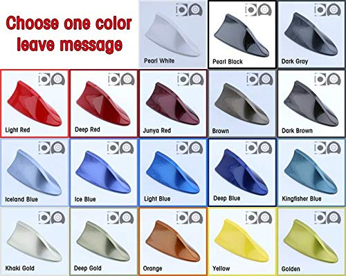 (Aerials Shark Antenna Special Car Radio Aerials Shark Fin Auto Antenna Signal for Fiat 500L 500X - (Color: Choose One)
