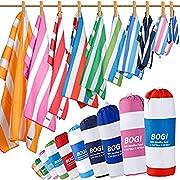 BOGI Microfiber Beach Towel Set, Quick Dry Beach Towel, Lightweight Absorbent Oversized Travel Towel, Sand Proof Compact…