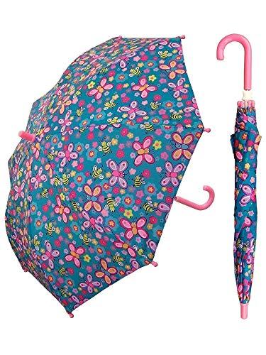 RainStoppers Kid's Bee Print Umbrella, 34-Inch