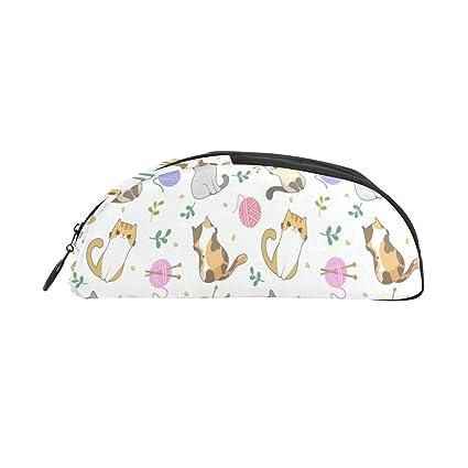 Bolso de papelería para niños Gato lindo Hilo de tejer ...