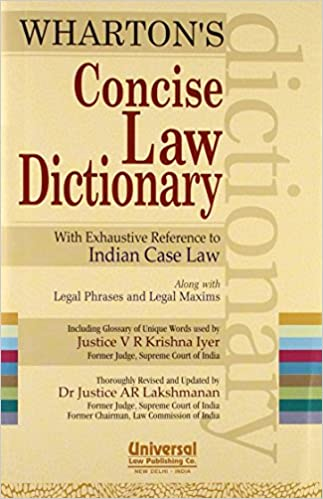 Buy concise law dictionary with exhaustive reference to indian case buy concise law dictionary with exhaustive reference to indian case law along with legal phrases and legal maxims 2013 concise reprint book online m4hsunfo