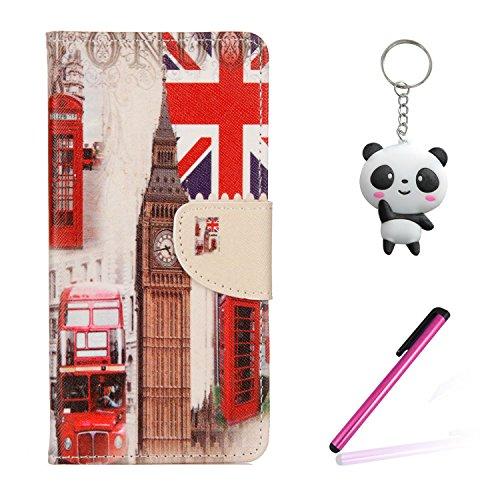 Coque iPhone X Timbres américains Portefeuille Fermoir Magnétique Supporter Flip Téléphone Protection Housse Case Étui Pour Apple iPhone X / iPhone 10 (2017) 5.8 Pouce + Deux cadeau