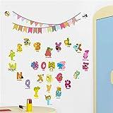 BIBITIME 26 Alphabet Wall Art Animals En