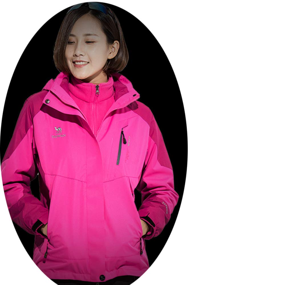 Pink L AZW@ Men's and Women's Jackets, Sportswear, Mountaineering, Workout Clothes, Ski Wear, Cycling Wear, Windproof and Breathable