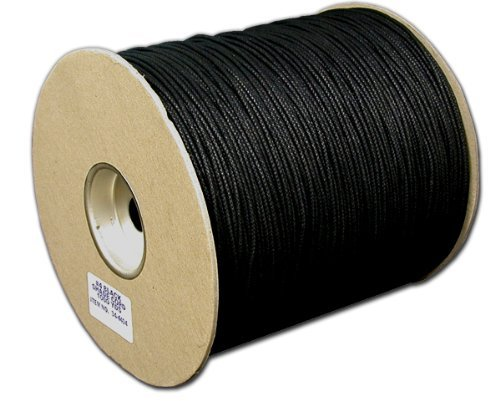 T.W . Evans Cordage 34-4404U-6 Number-4 1/8-Inch Black Cotton Shade Cord 200-Yard Unglazed by T.W . Evans Cordage Co.